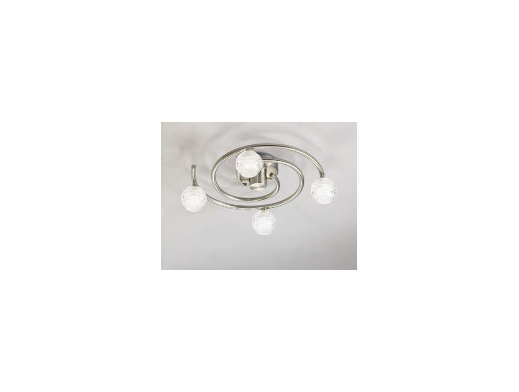 Mantra Lighting 0097SN Dali 4 Light Flush Mount Ceiling Fixture Satin
