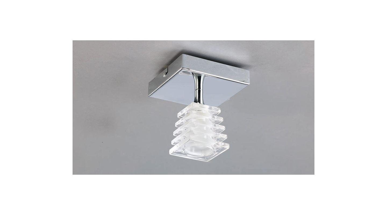 Mantra Lighting 0020CH Keops 1 Light Flush Mount Ceiling Fixture