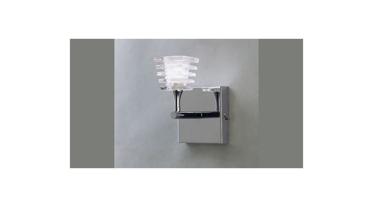 Mantra Lighting 0021CH Keops 1 Light Wall Sconce Polished Chrome