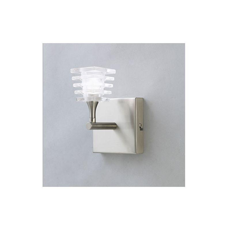 Mantra Lighting 0021SN Keops 1 Light Wall Sconce Satin Nickel Indoor