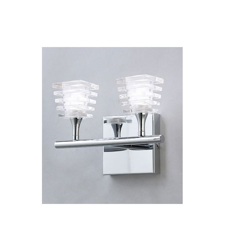 Mantra Lighting 0022CH Keops 2 Light Wall Sconce Polished Nickel