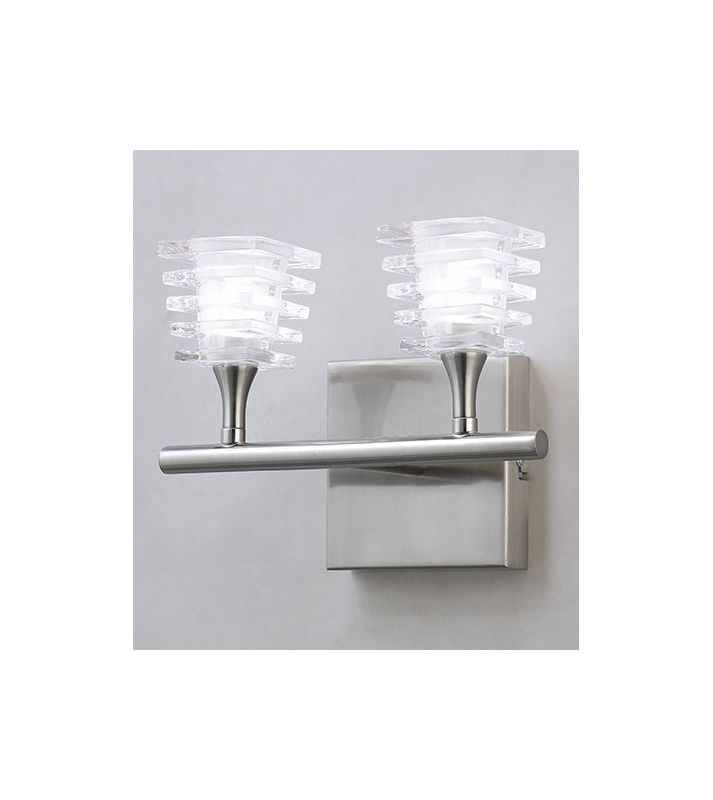 Mantra Lighting 0022SN Keops 2 Light Wall Sconce Satin Nickel Indoor