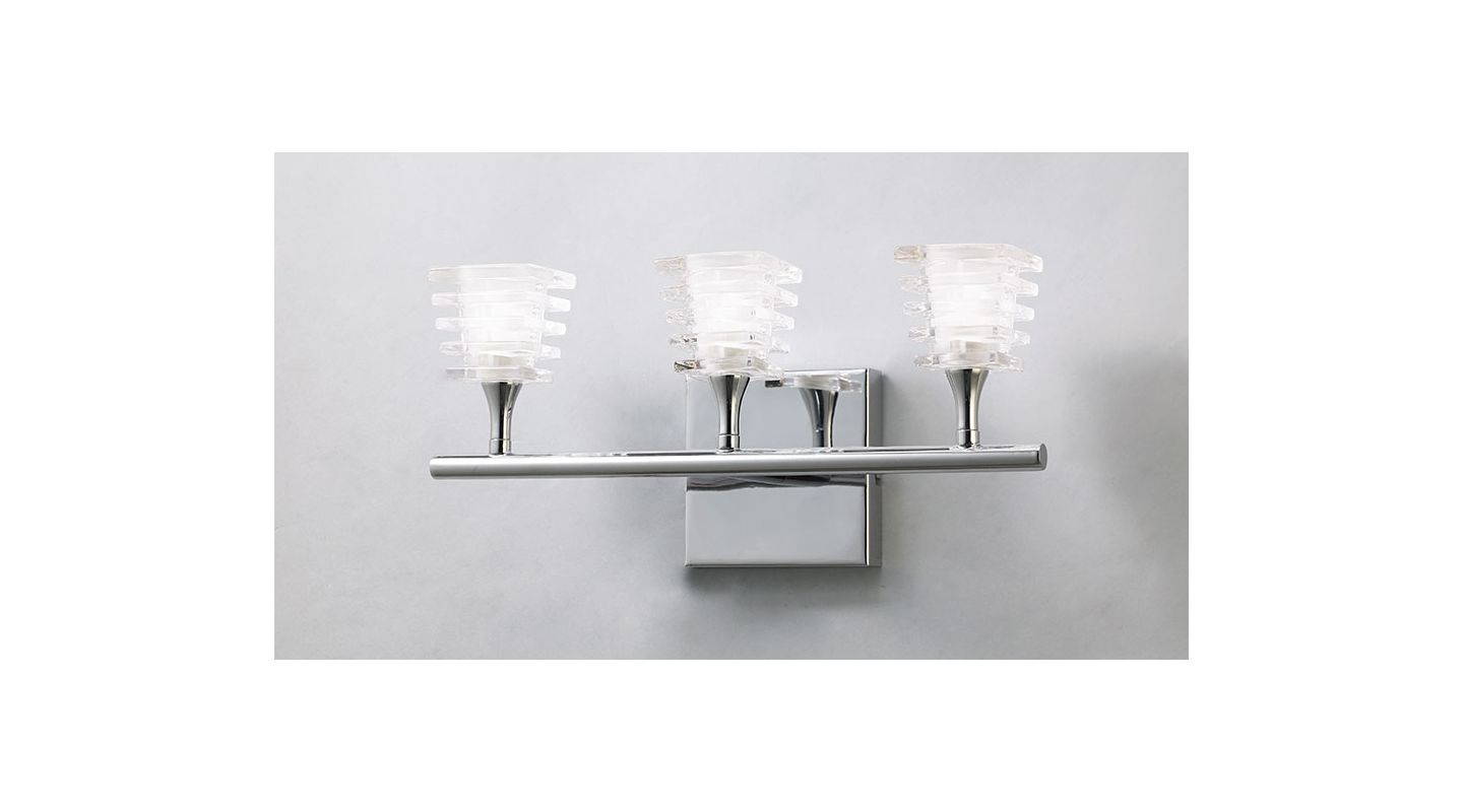 Mantra Lighting 0023CH Keops 3 Light Wall Sconce Polished Nickel