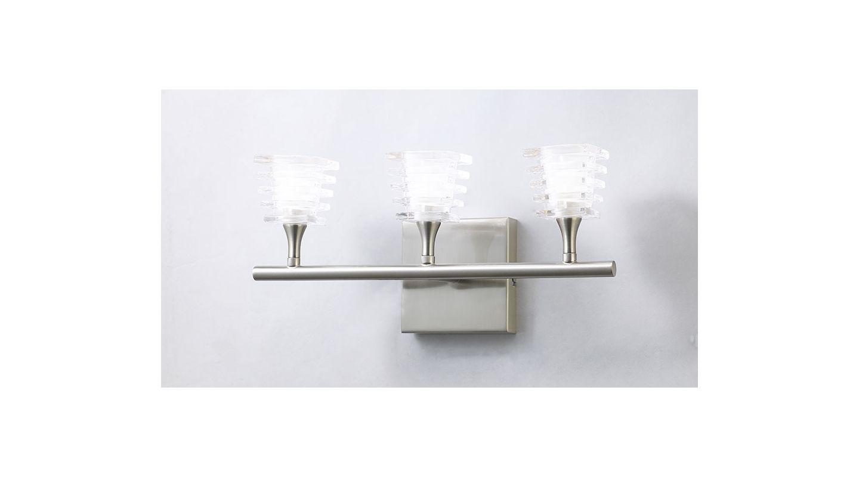 Mantra Lighting 0023SN Keops 3 Light Wall Sconce Satin Nickel Indoor
