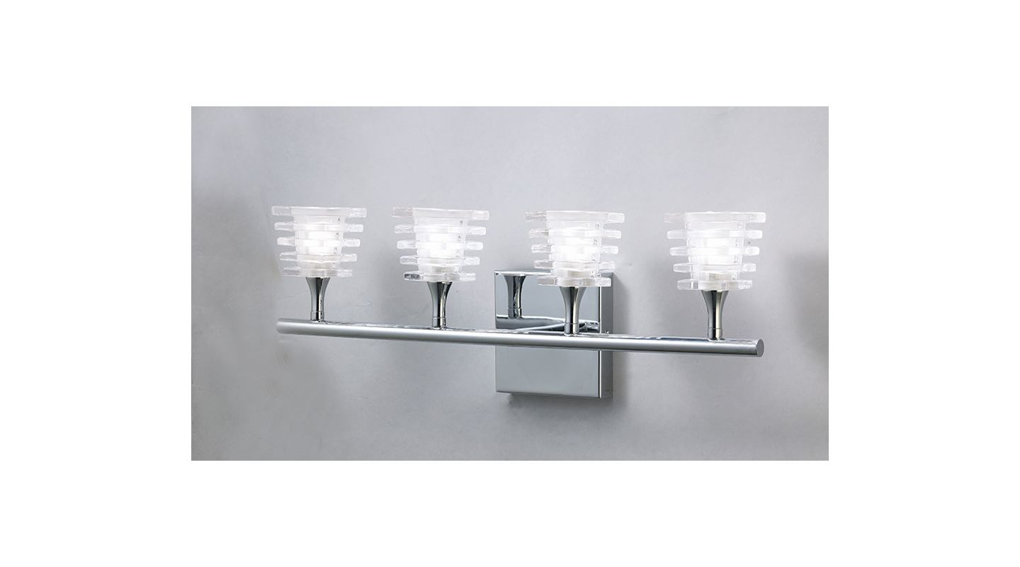 Mantra Lighting 0024CH Keops 4 Light Wall Sconce Polished Nickel Sale $351.90 ITEM: bci2433052 ID#:Keops K0024CH UPC: 8435153200243 :