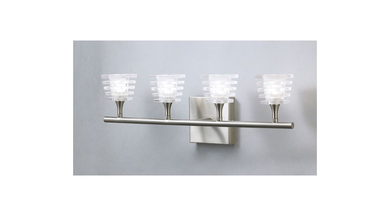 Mantra Lighting 0024SN Keops 4 Light Wall Sconce Satin Nickel Indoor