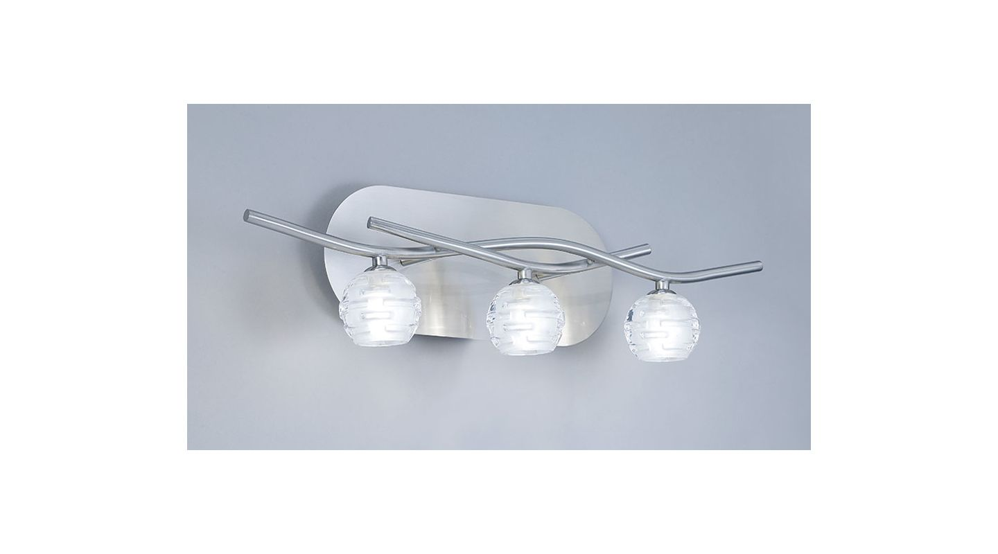 Mantra Lighting 0093SN Dali 3 Light Wall Sconce Satin Nickel Indoor Sale $331.20 ITEM: bci2433042 ID#:Dali D0093SN UPC: 8435153200939 :