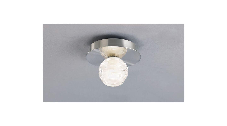 Mantra Lighting 0096SN Dali 1 Light Flush Mount Ceiling Fixture Satin