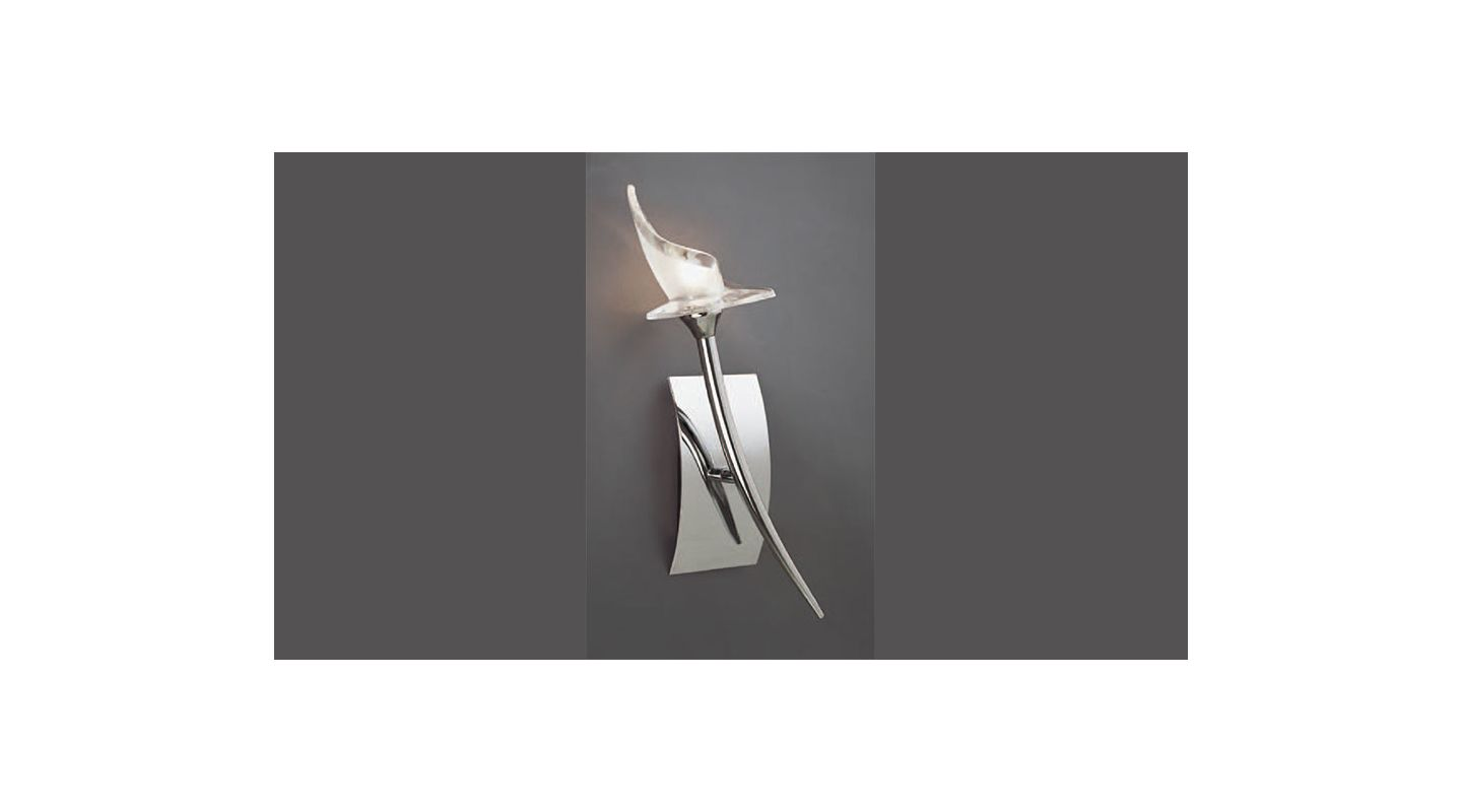 Mantra Lighting 0307 Flavia 1 Light Wall Sconce Polished Chrome Indoor