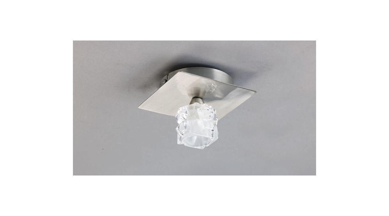 Mantra Lighting 0360SN Viena 1 Light Flush Mount Ceiling Fixture Satin