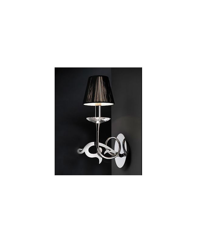Mantra Lighting 0379 Acanto 1 Light Wall Sconce Polished Chrome Indoor
