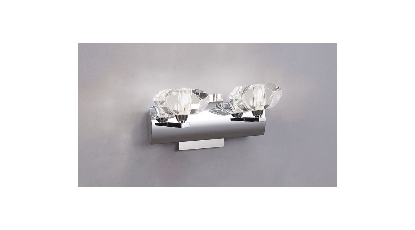 Mantra Lighting 0402CH Alfa 2 Light Wall Sconce Polished Chrome Indoor