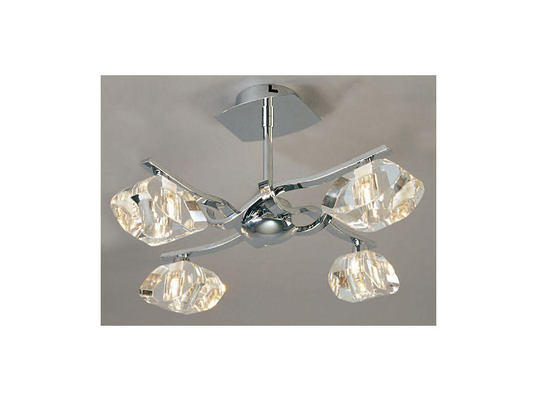 Mantra Lighting 0415 Alfa 4 Light Semi-Flush Ceiling Fixture Polished
