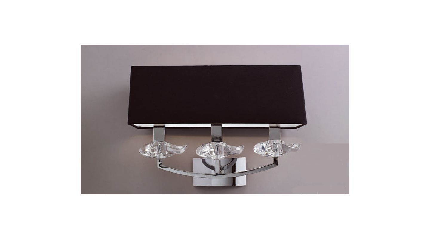 Mantra Lighting 0788 Akira 3 Light Wall Sconce Polished Chrome Indoor
