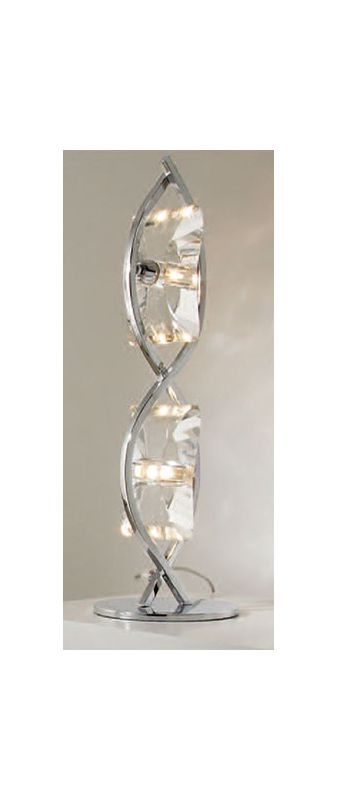 Mantra Lighting 0896 Krom 2 Light Table Lamp Polished Chrome Lamps