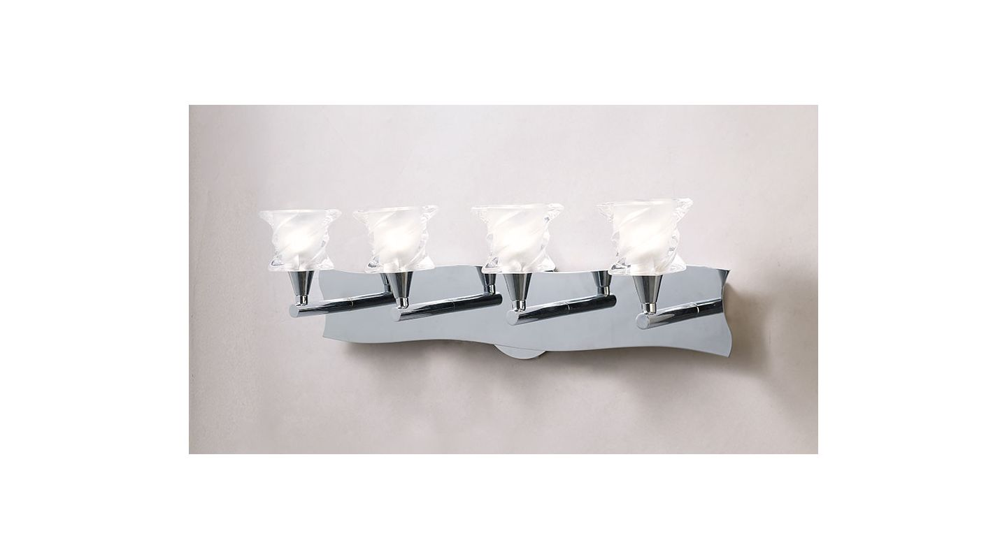 Mantra Lighting 1004CH Salomon 4 Light Wall Sconce Polished Chrome