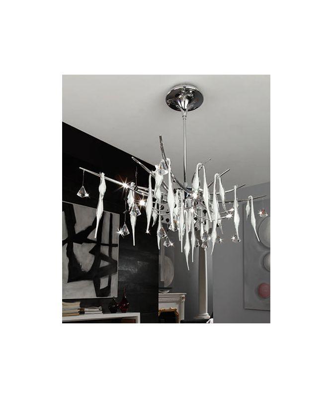 Mantra Lighting 1237 B&N 12 Light 1 Tier Crystal Chandelier Polished