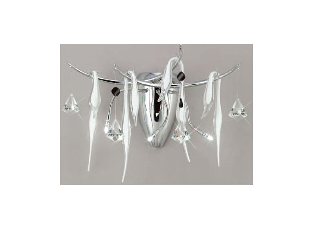 Mantra Lighting 1239 B&N 3 Light Wall Sconce Polished Chrome / White