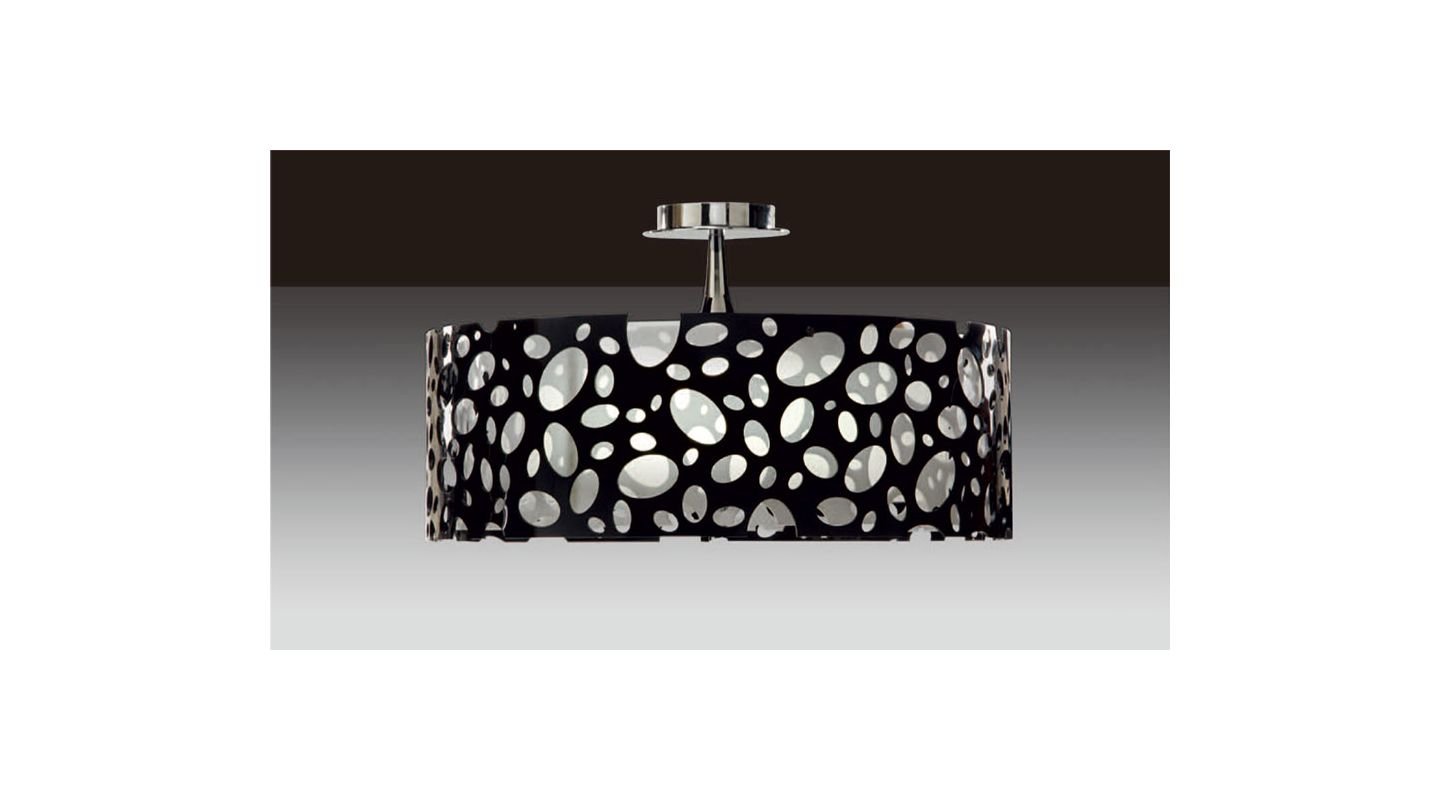 Mantra Lighting 1354 Moon 4 Light Semi-Flush Ceiling Fixture Acrylic