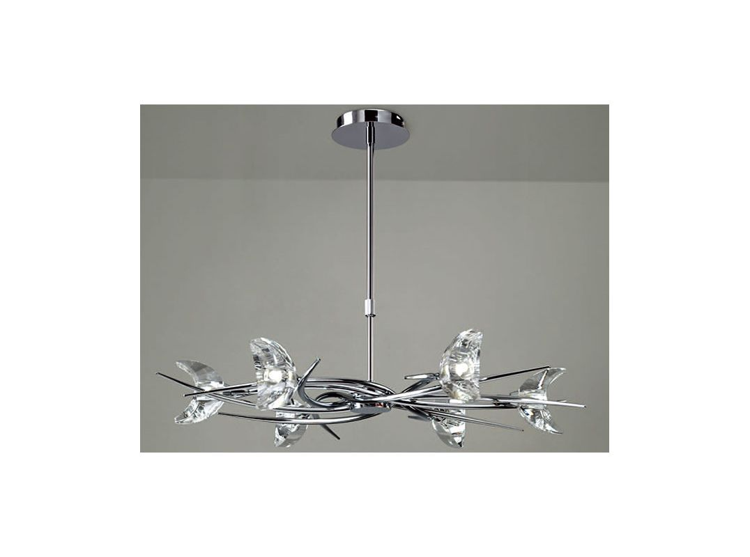 Mantra Lighting 1450 Eclipse 8 Light 1 Tier Chandelier Polished Chrome