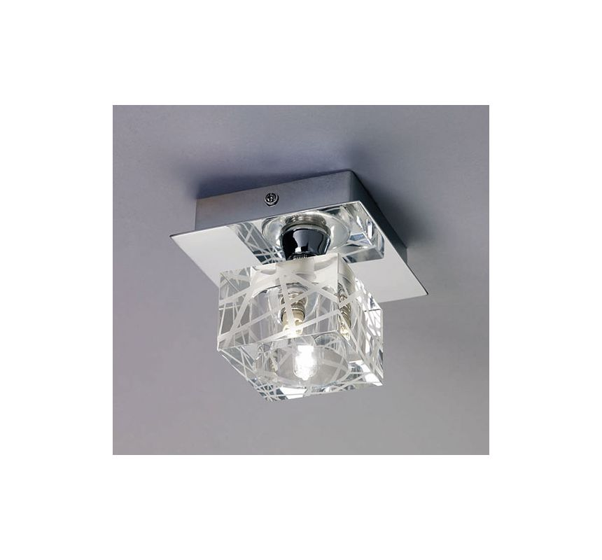 Mantra Lighting 1450CH Zen 1 Light Flush Mount Ceiling Fixture