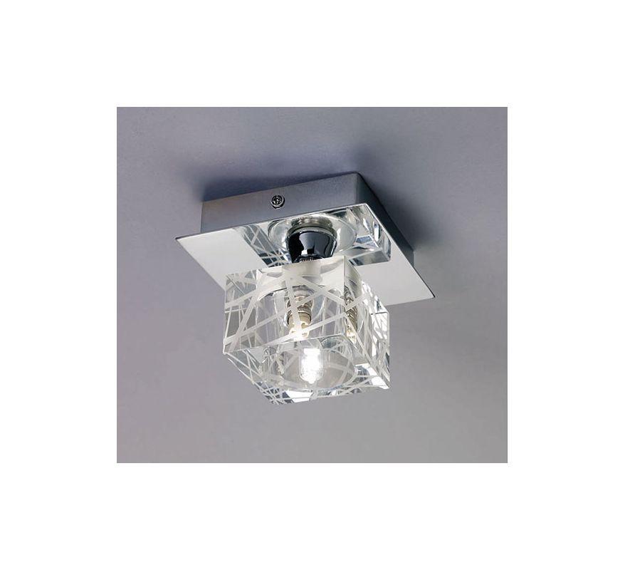 Mantra Lighting 1450SN Zen 1 Light Flush Mount Ceiling Fixture Satin