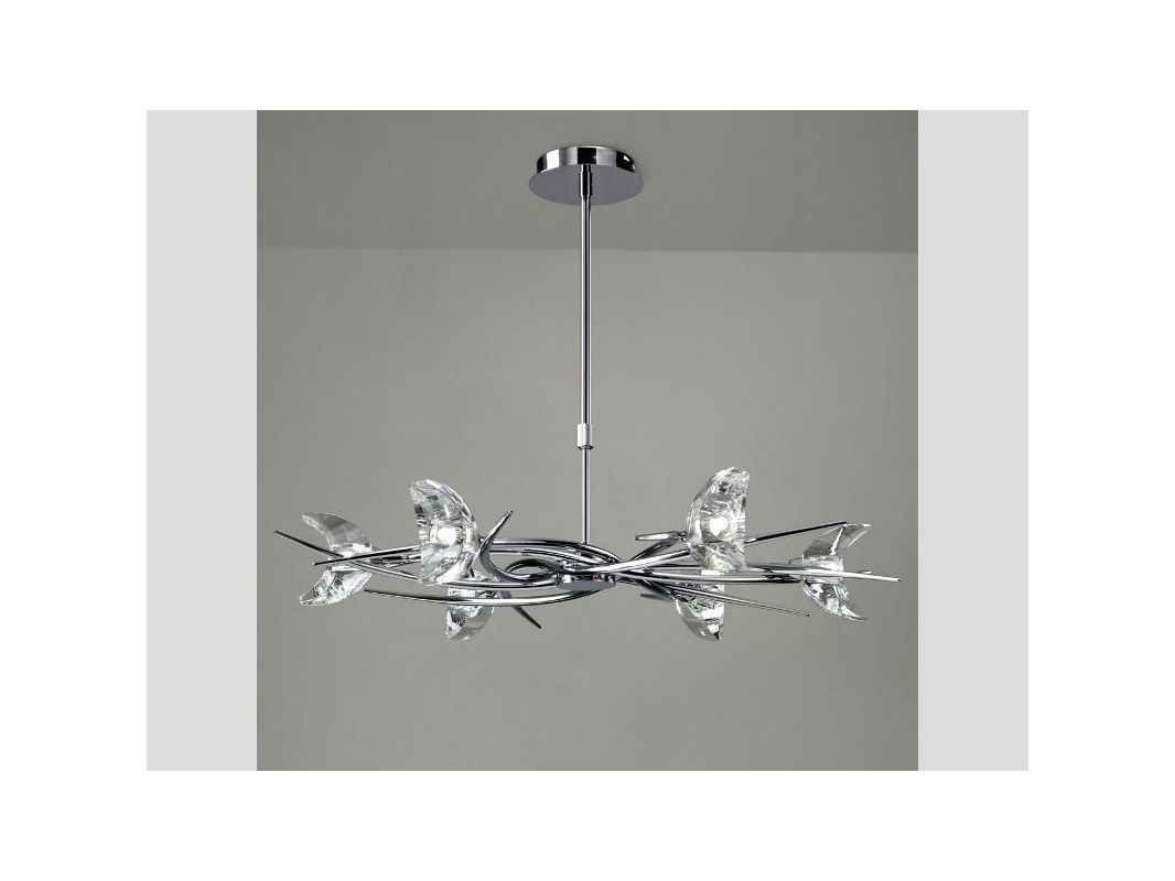 Mantra Lighting 1451 Eclipse 6 Light 1 Tier Chandelier Polished Chrome