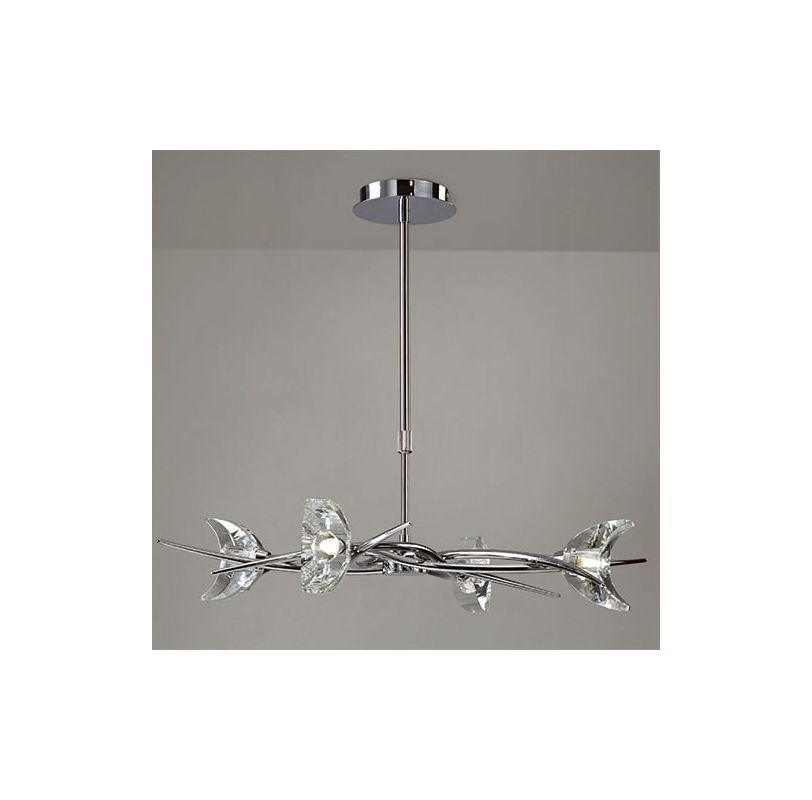 Mantra Lighting 1453 Eclipse 4 Light 1 Tier Chandelier Polished Chrome