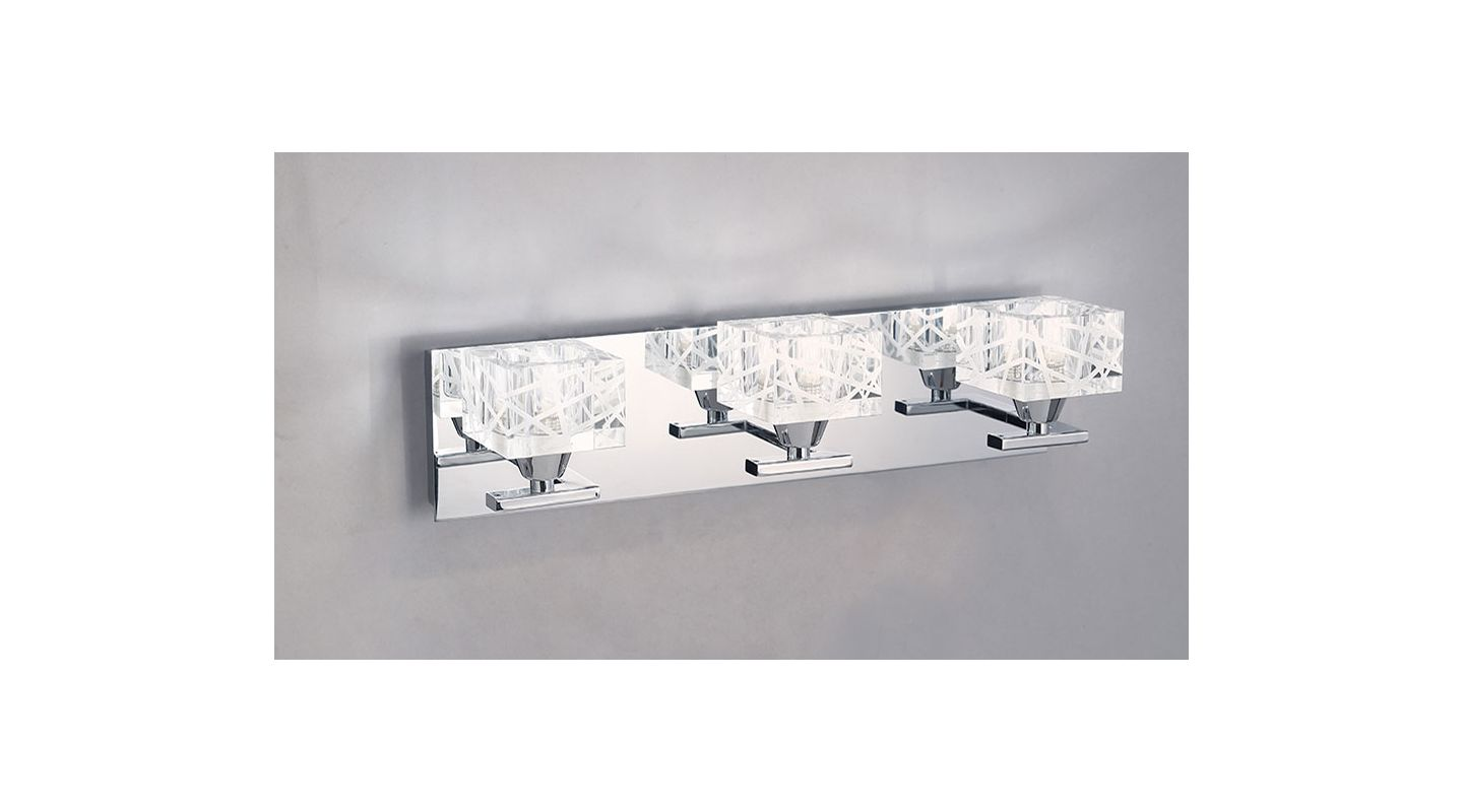 Mantra Lighting 1453CH Zen 3 Light Wall Sconce Polished Chrome Indoor