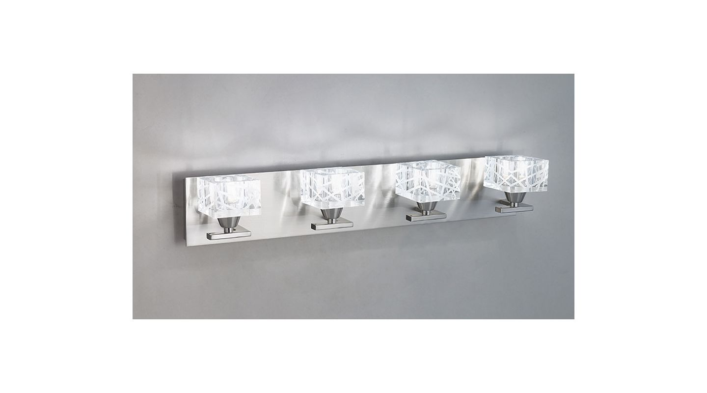 Mantra Lighting 1454SN Zen 4 Light Wall Sconce Satin Nickel Indoor Sale $414.00 ITEM: bci2433084 ID#:Zen Z1454SN UPC: 8435153214547 :
