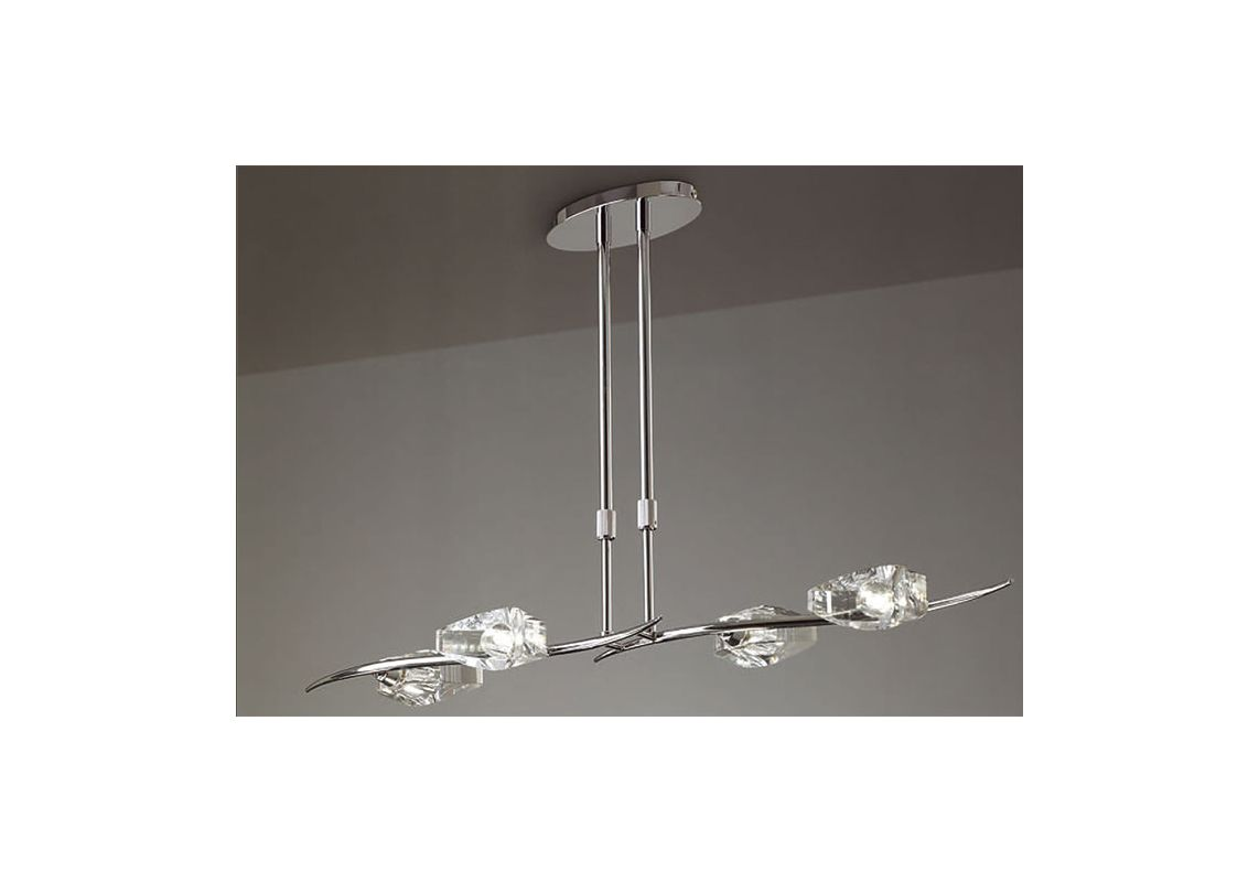 Mantra Lighting 1456 Eclipse 4 Light 1 Tier Chandelier Polished Chrome