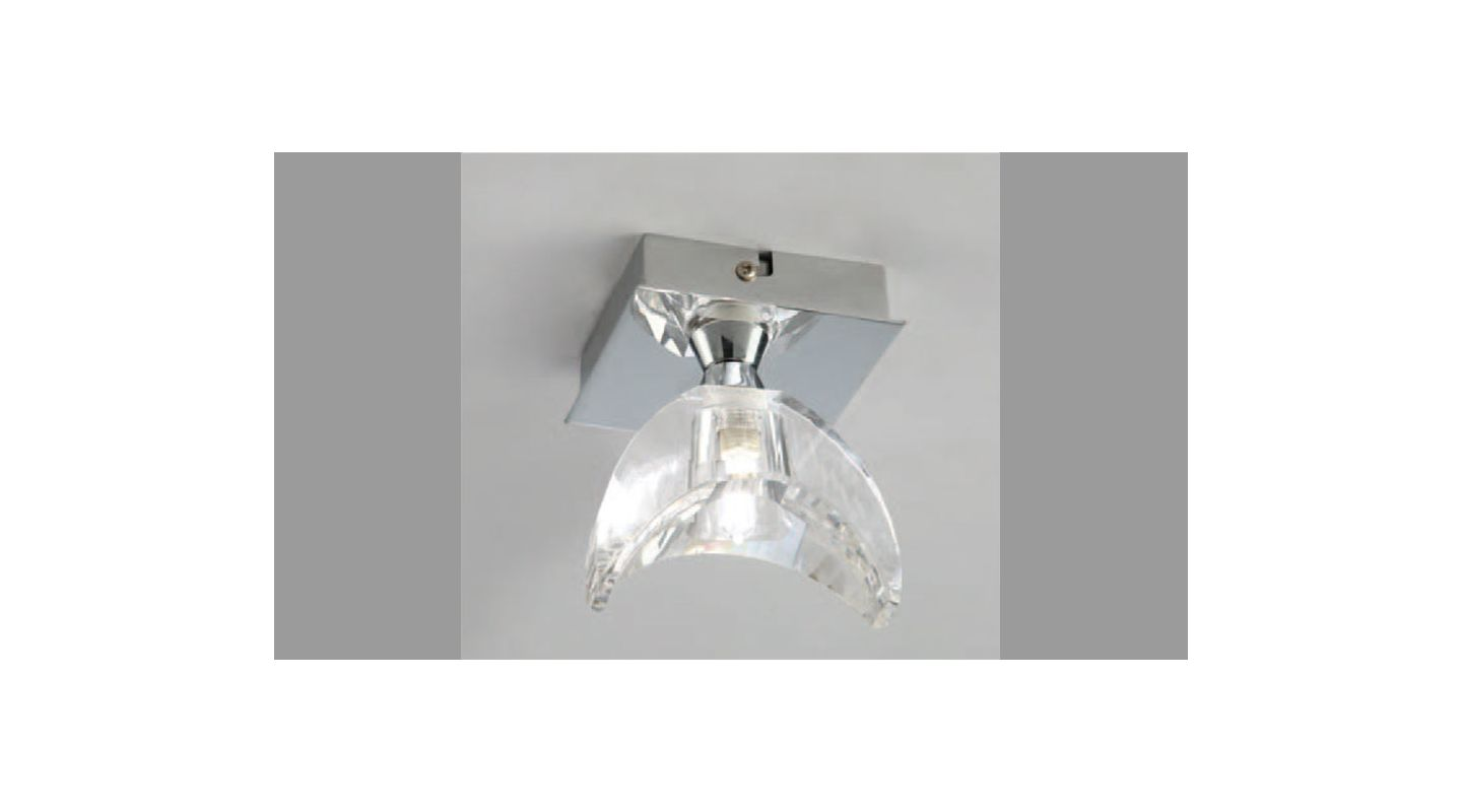 Mantra Lighting 1457 Eclipse 1 Light Wall Sconce Polished Chrome