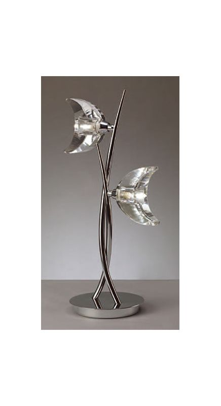 Mantra Lighting 1460 Eclipse 2 Light Table Lamp Polished Chrome Lamps Sale $238.05 ITEM: bci2433104 ID#:Eclipse 1460 UPC: 8435153214608 :