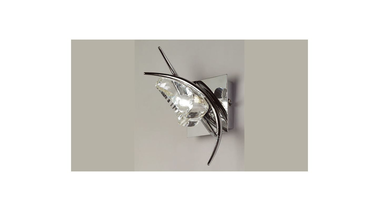 Mantra Lighting 1461 Eclipse 1 Light Wall Sconce Polished Chrome