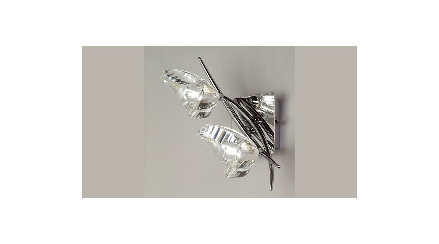 Mantra Lighting 1462 Eclipse 2 Light Wall Sconce Polished Chrome