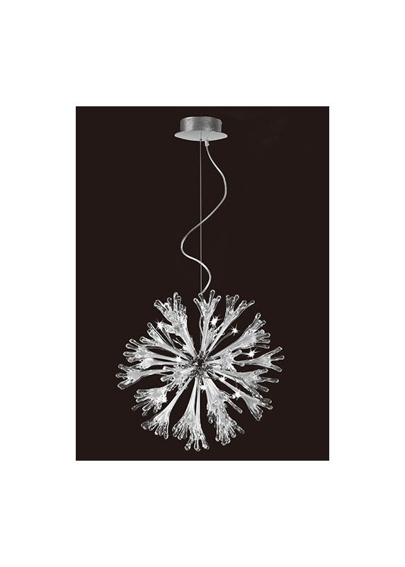 Mantra Lighting 1661 Love 11 Light 1 Tier Chandelier Polished Chrome /