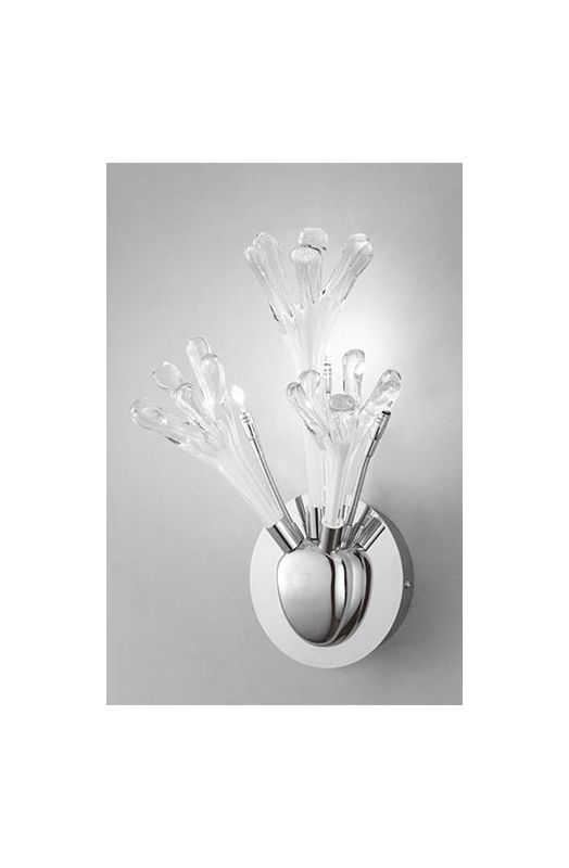 Mantra Lighting 1664 Love 3 Light Wall Sconce Polished Chrome / White
