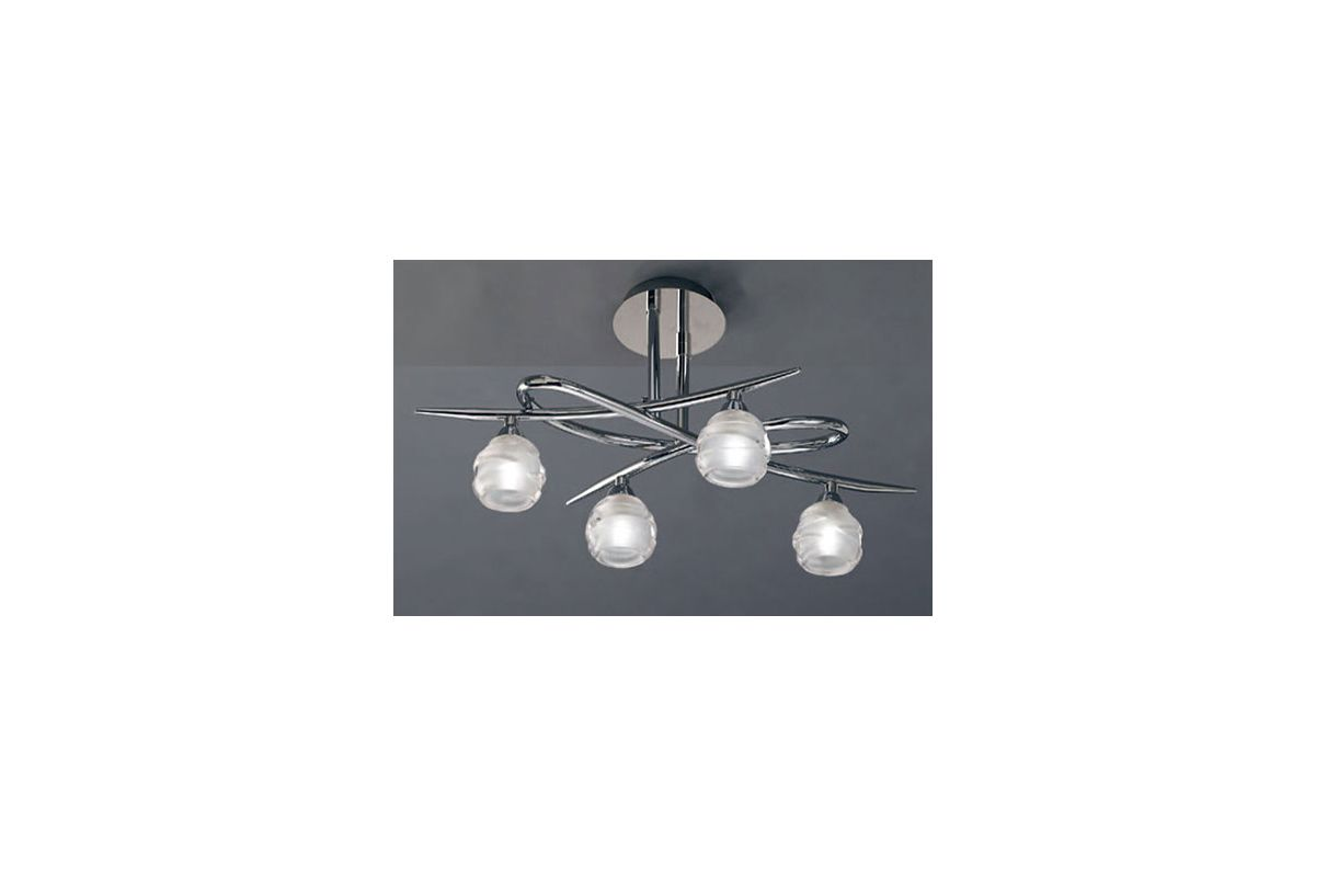 Mantra Lighting 1803 Loop 4 Light Semi-Flush Ceiling Fixture Polished