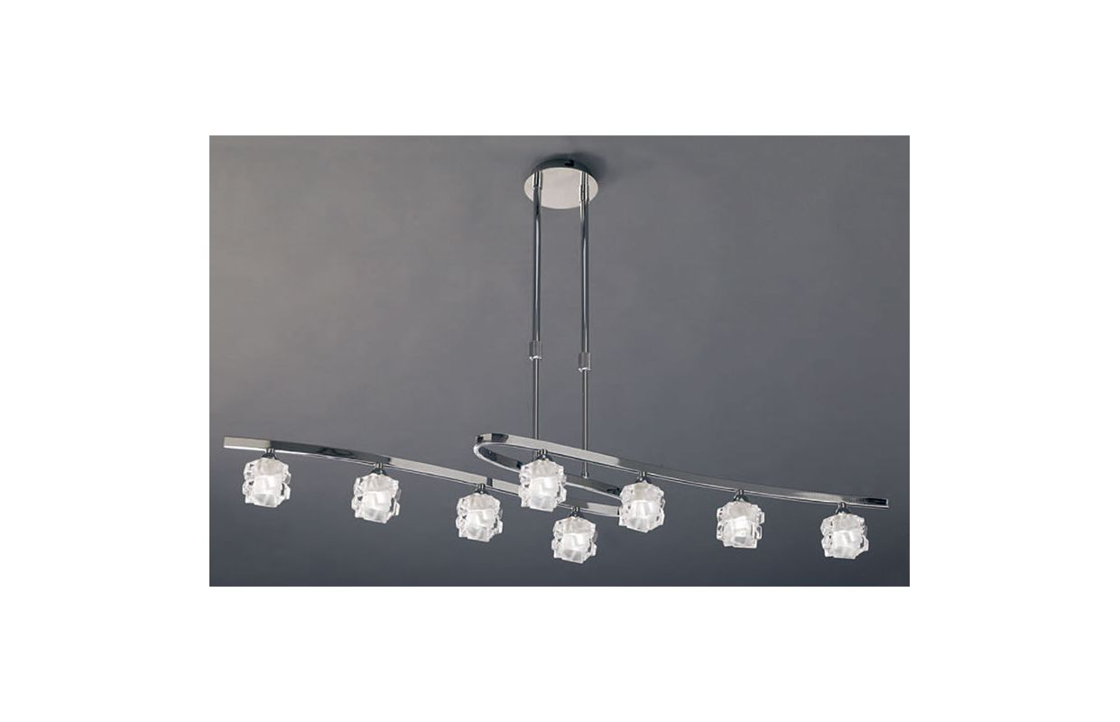 Mantra Lighting 1840 Ice 8 Light 1 Tier Chandelier Polished Chrome