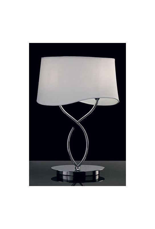 Mantra Lighting 1906 Ninette 2 Light Table Lamp Polished Chrome Lamps Sale $248.40 ITEM: bci2433136 ID#:Ninette 1906 UPC: 8435153219061 :