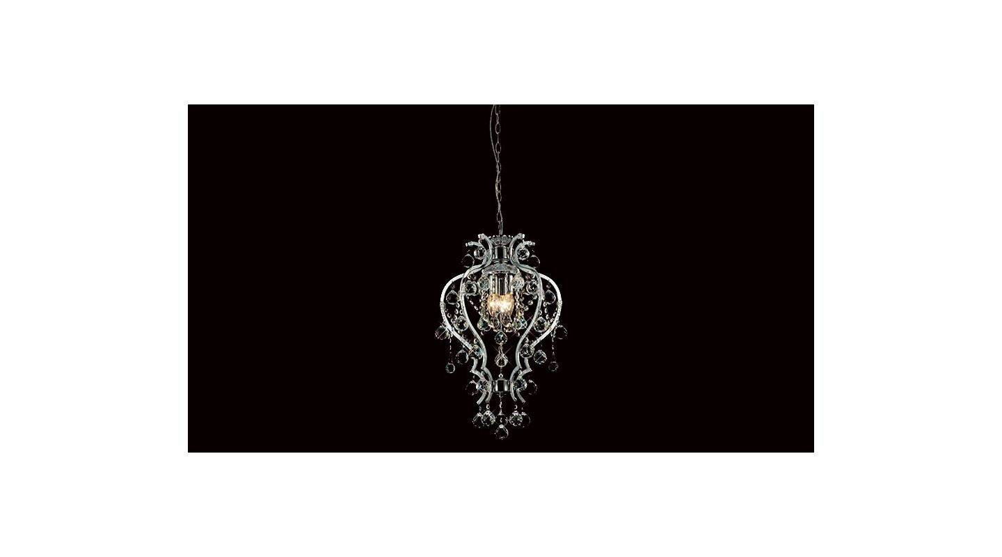 Mantra Lighting 2720 Misc 3 Light Full Sized Pendant Metal Chrome /