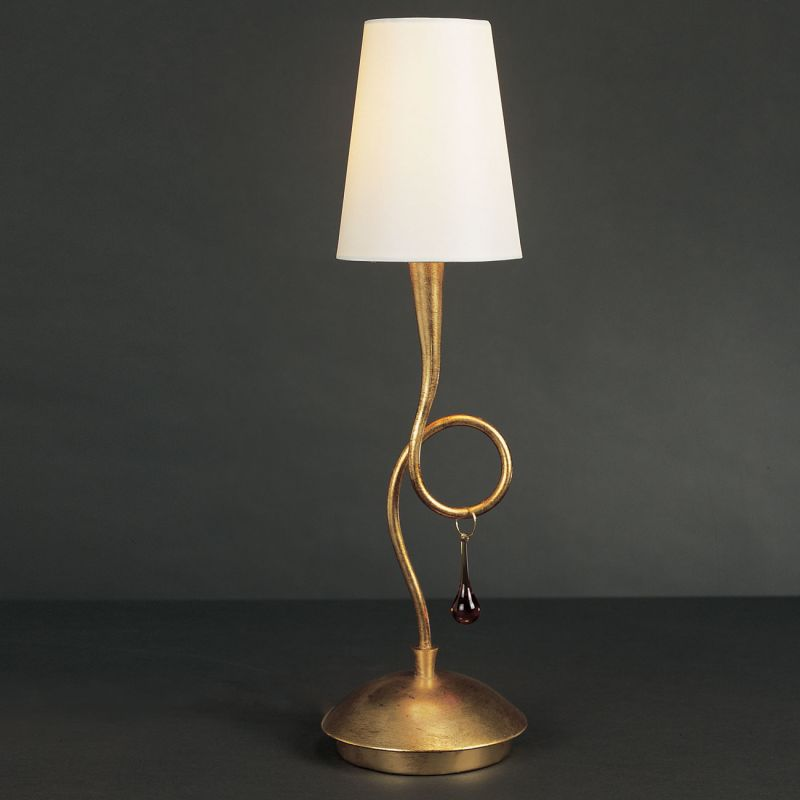 Mantra Lighting 3545 Paola 1 Light Table Lamp Gold Painting Lamps