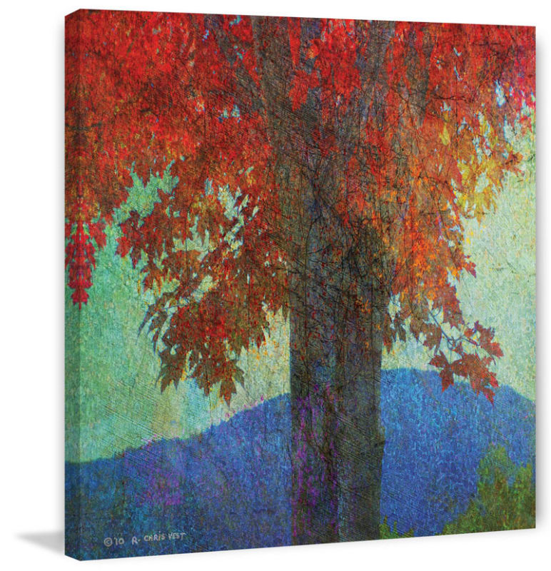 Marmont Hill Brilliant Fall Maple II Chris Vest Painting Print on