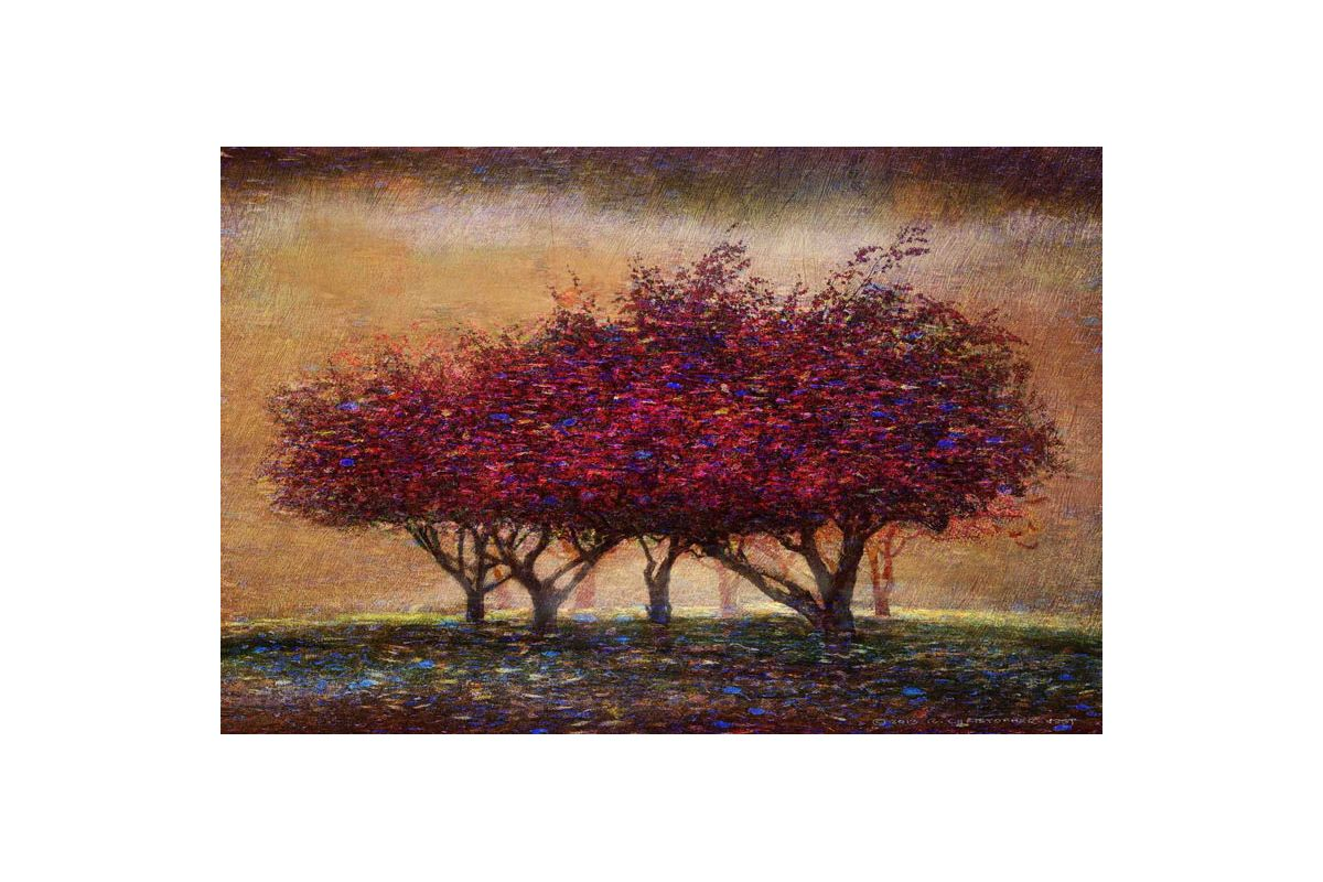 Marmont Hill Crabapple Blossoms Painting Print on Canvas 12 x 18 Home