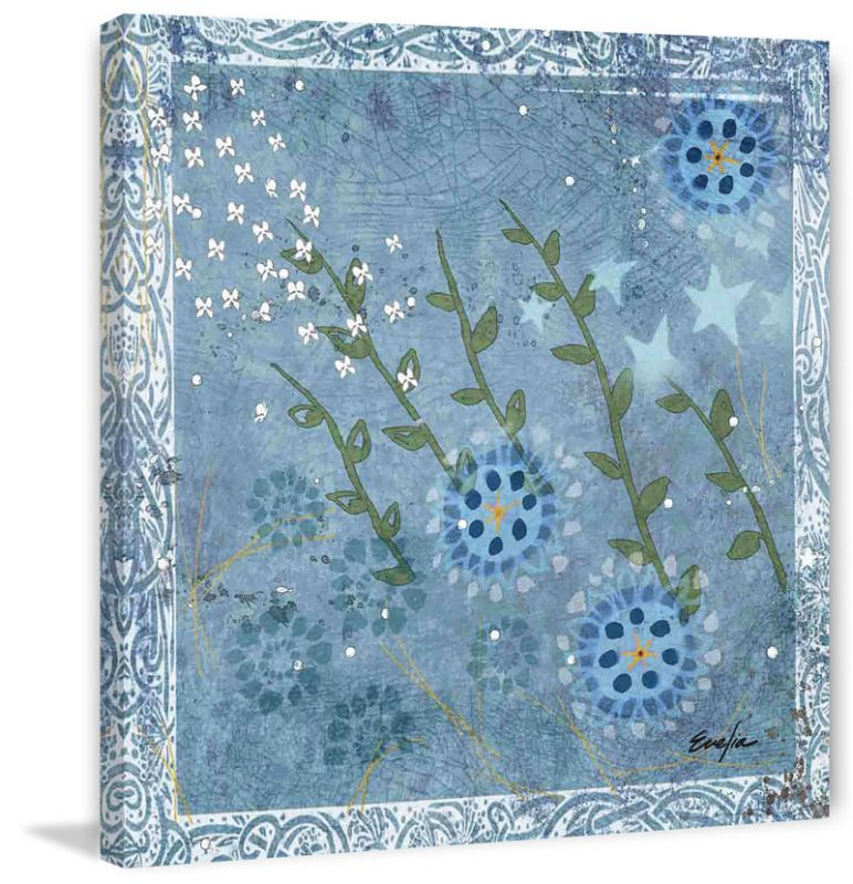 Marmont Hill Eves Flowers I Evelia Painting Print on Canvas 18 x 18