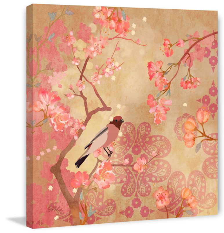 Marmont Hill Plum Blossoms Evelia Painting Print on Canvas 40 x 40