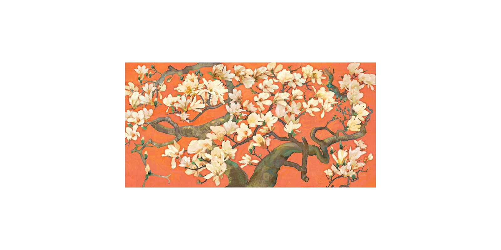 Marmont Hill Magnolia Branches I Evelia Painting Print on Canvas 18 x