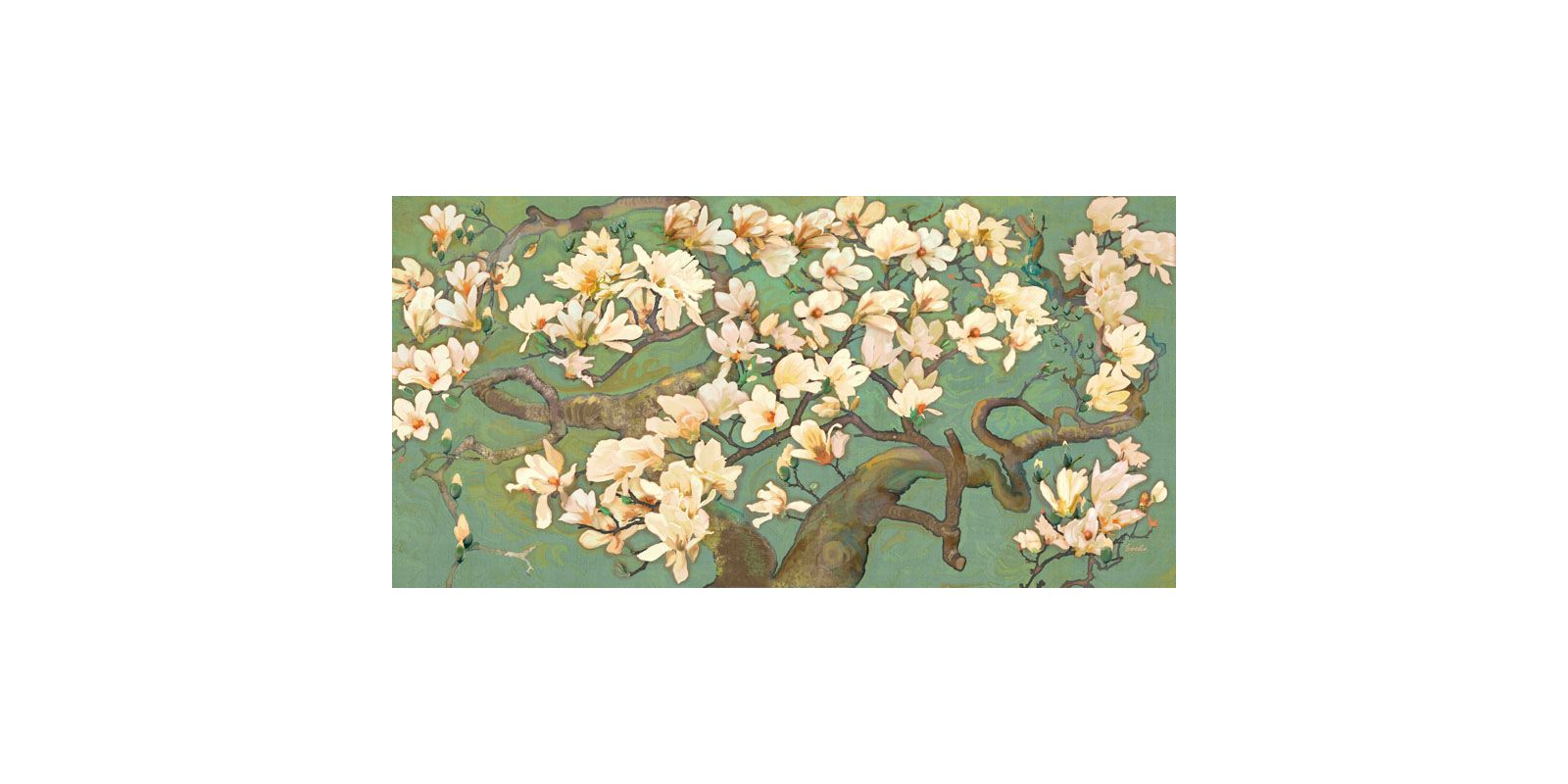 Marmont Hill Magnolia Branches III Evelia Painting Print on Canvas 18