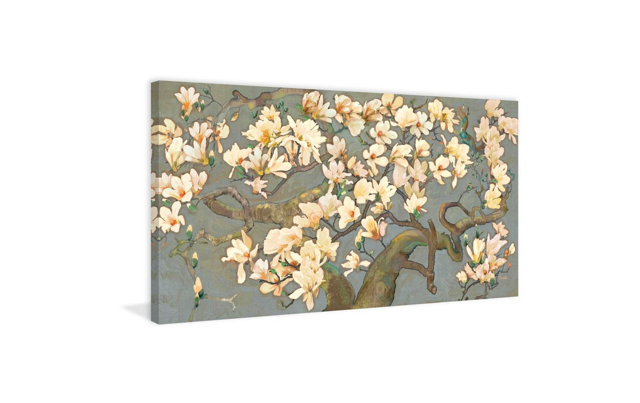 Marmont Hill Magnolia Branches IV Evelia Painting Print on Canvas 12 x