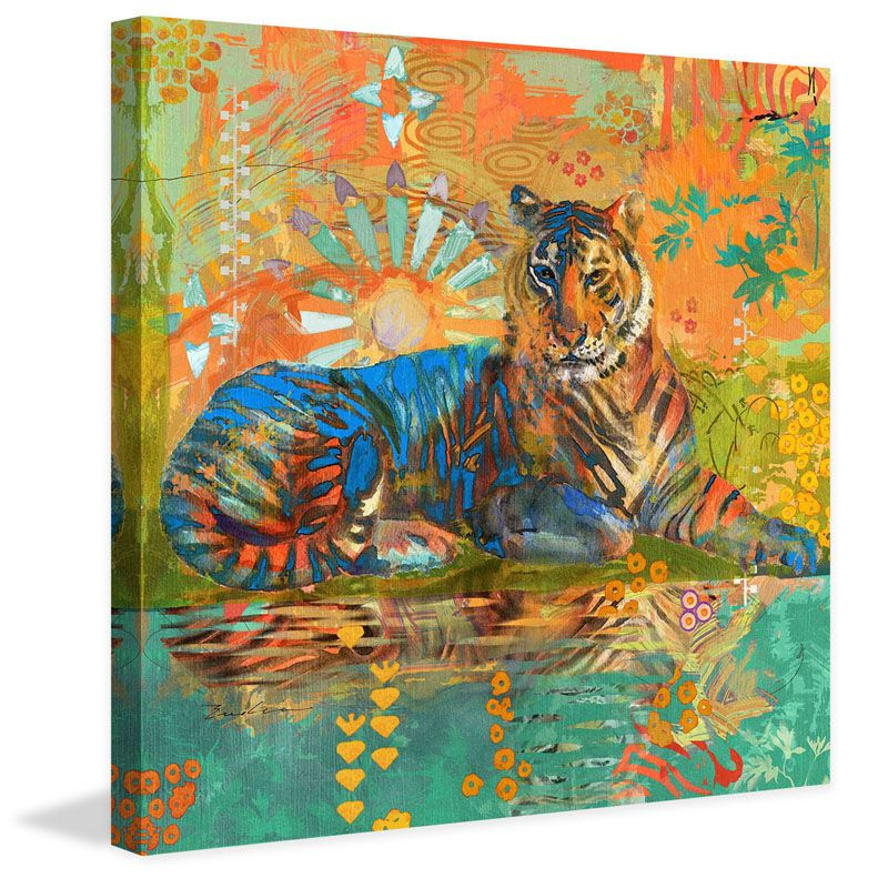 Marmont Hill South China Tiger Painting Print on Canvas 40 x 40 Home